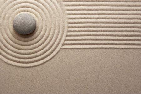 Фотообои рисунок на песке фэн-шуй (nature-00449)