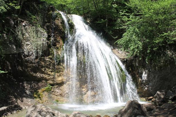 Фотообои водоем камень водопад (nature-00610)