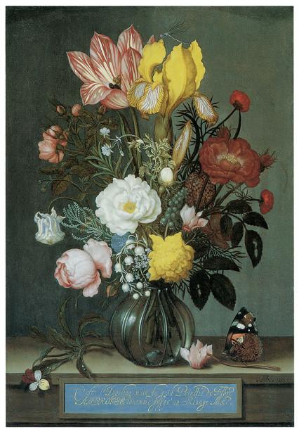 Картина цветы в вазе Амброзиус (pf-12)