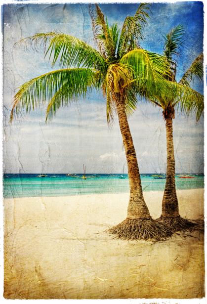 Фотообои море пляж винтаж (retro-vintage-0000167)