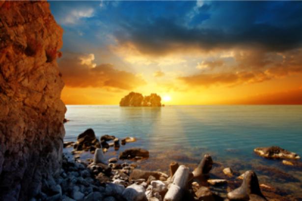 Фотообои фото море берег закат (sea-0000084)