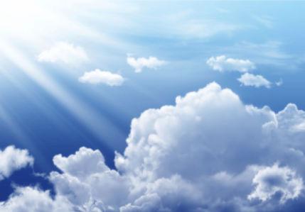 Фотообои голубое небо на кухню (sky-0000112)