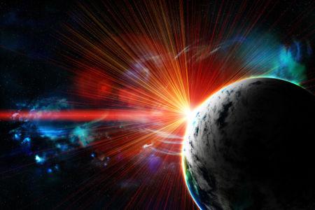 Фотообои с планетой космический пейзаж (space-0000065)