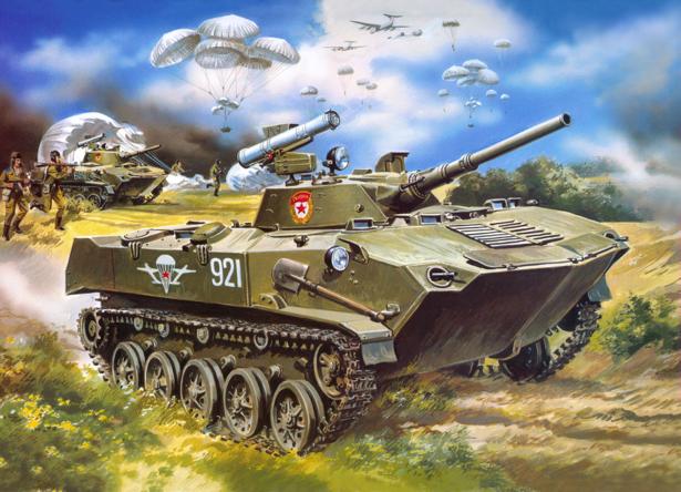 Фотообои военная техника в иллюстрации (transport-0000081)