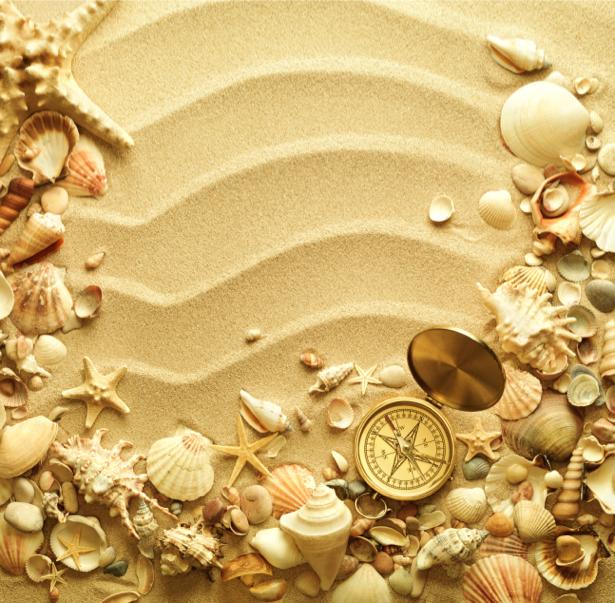Фотообои в ванную композиция на песке (underwater-world-00086)