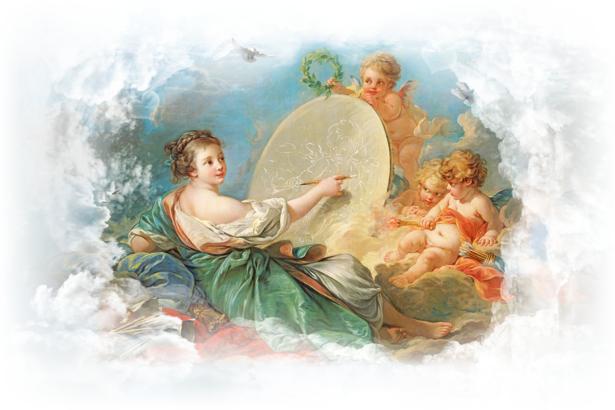 Фотообои амуры искусства фреска (angel-00022)