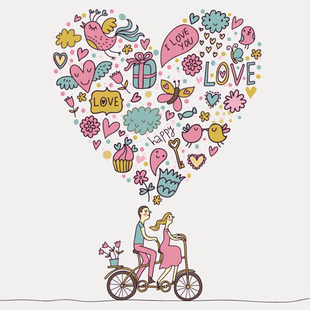 Фотообои что тебе нужно - это любовь (background-0000345)