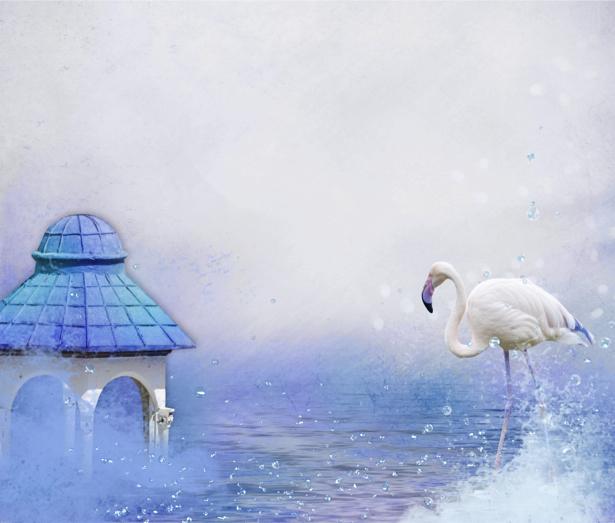 Детские фотообои белый фламинго (children-0000100)