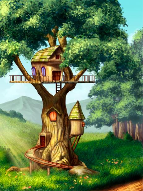 Детские фотообои Сказочное дерево (children-0000119)