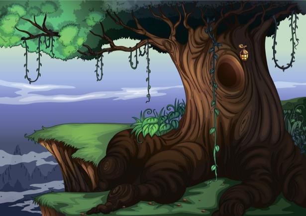 Фотообои детские - Сказочное дерево (children-0000246)