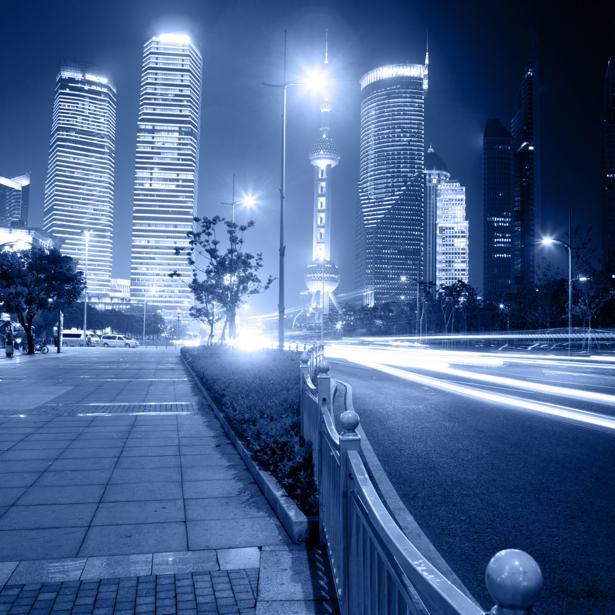 Фотообои ночной город небоскребы (city-0000454)