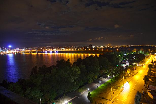 Фотообои Днепропетровск ночной (city-0000922)