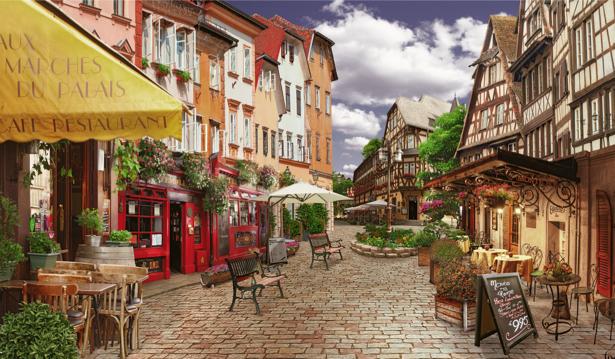 Фотообои старый город европейская площадь (city-0000983)