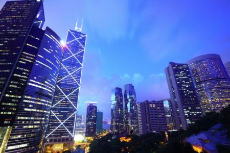 Фотообои Сингапур ночью здания (city-0001149)