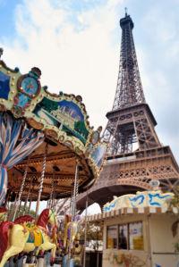 Фотообои Эйфелева башня карусель (city-0001231)
