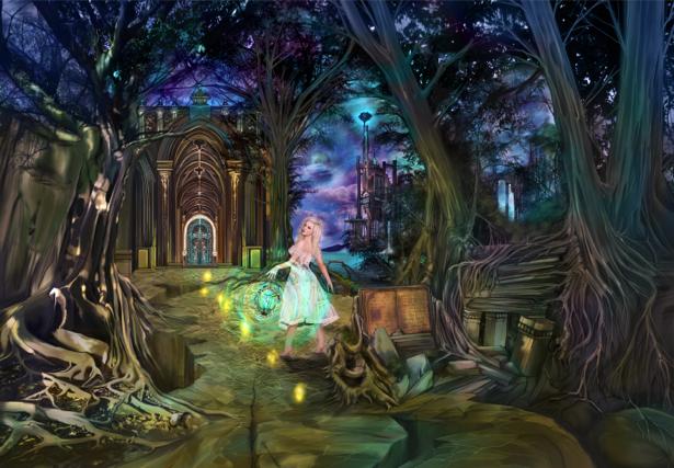 Фотообои фея в сказочном лесу (fantasy-0000011)