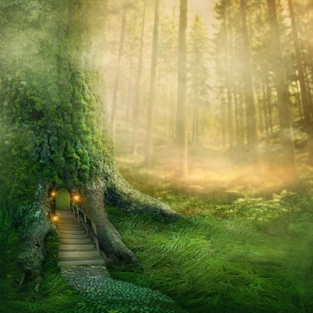 фотообои в детскую домик в дереве (fantasy-0000150)