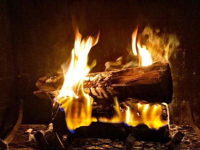 Фотообои с огнем в камине (fire-010)