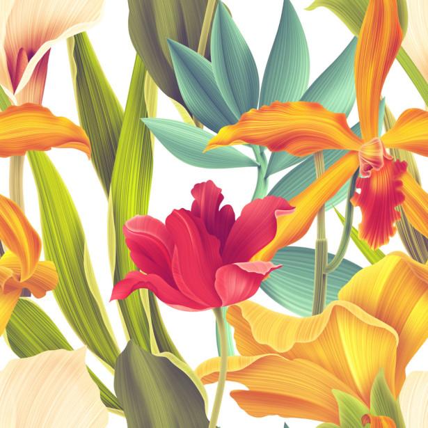 Фотообои Цветочный паттерн (flowers-741)