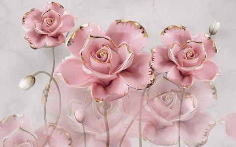 Фотообои Розовые розы (flowers-818)