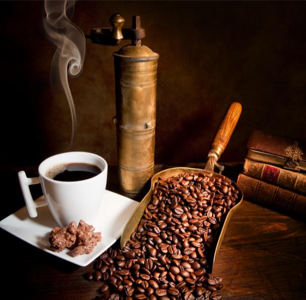 Фотообои для кухни зерна кофе (food-0000166)