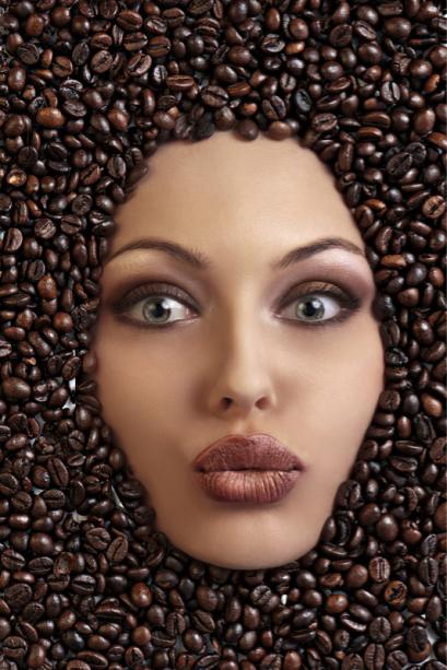 Фотообои на кухню кофе лицо (food-0000286)