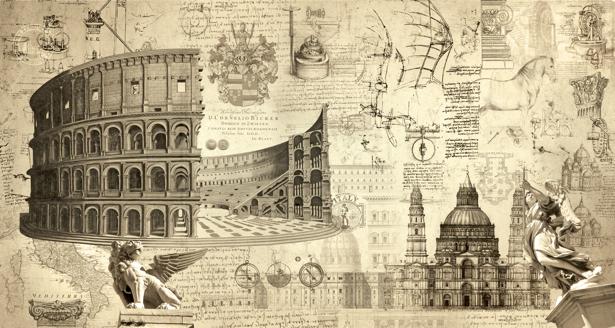 Фотообои итальянское возрождение (printmaking-0000050)