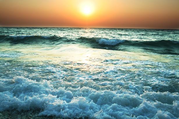 Фотообои море волны на закате (sea-0000346)