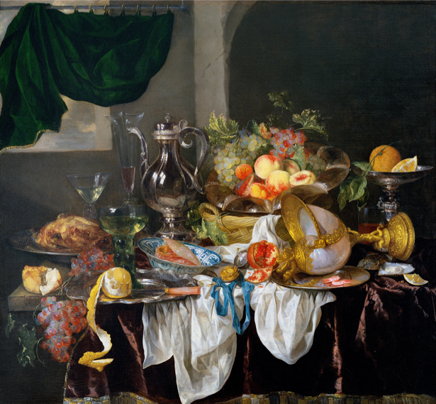 Фотообои Абрахам ван Беерен голландский натюрморт фрукты (still-life-0079)