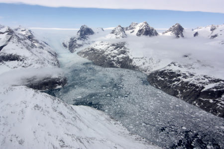 Фотообои с природой горные вершины в снегу (terra-00069)