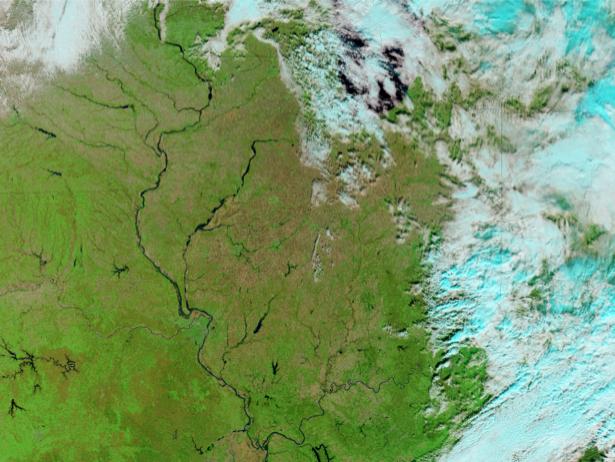 Фотообои фото фон голубой и зеленый (terra-00130)