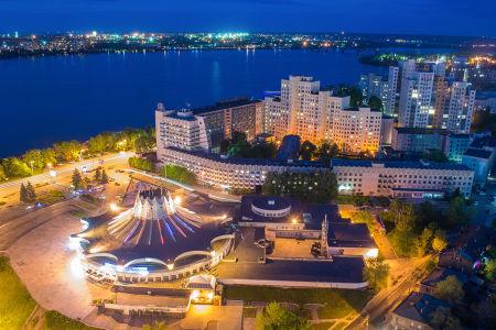 Фотообои Вид на город сверху (ukr-69)