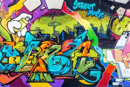 Фотообои Уличное граффити (background-388)