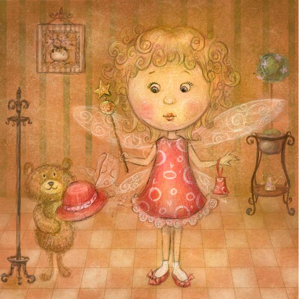 девочка - феечка фотообои детские (children-0000366)