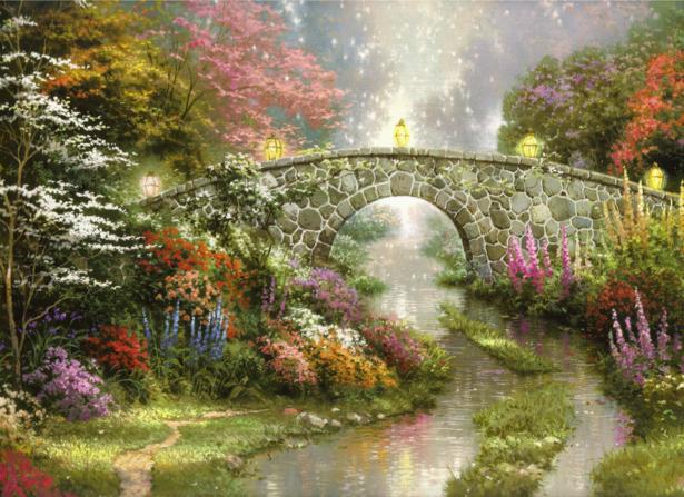 Фотообои пейзаж с мостиком (fantasy-0000043)