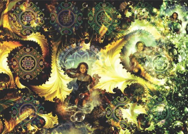 Фотообои космический орнамент (fantasy-0000088)