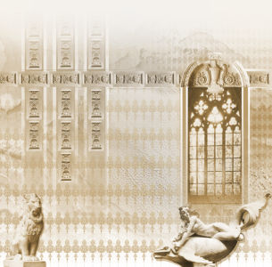 Фотообои окно античная тема (printmaking-0000014)