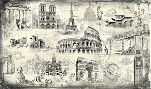 Фотообои Архитектура мира (printmaking-0000049)