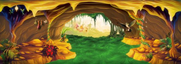 сказочная пещера - фотообои детские (printmaking-0000100)