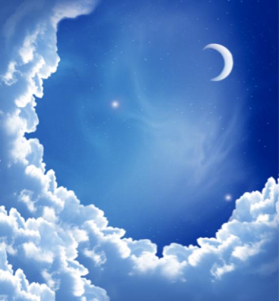 Фотообои луна облака небо (sky-0000035)