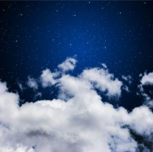 Фотообои со звёздами облака небо (sky-0000079)