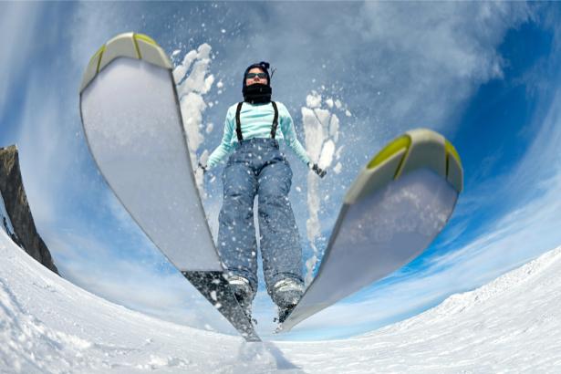 Фотообои лыжница (sport-0000136)