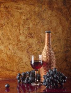 Фотообои бокал вина на столе фото (still-life-0016)
