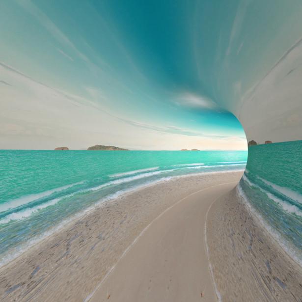 3D фотообои Бесконечное море (3d3)