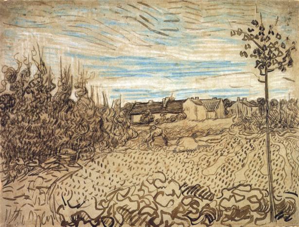 Ван Гог пейзаж (art-0000174)