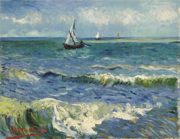 Ван Гог морской пейзаж (art-0000248)