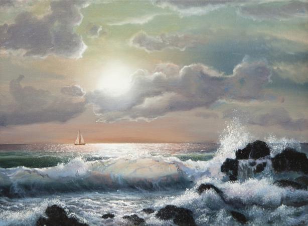 Фотообои Море, закат (art-0000709)