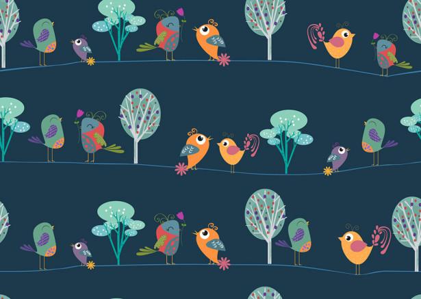 Фотообои Веселые птички (child-501)