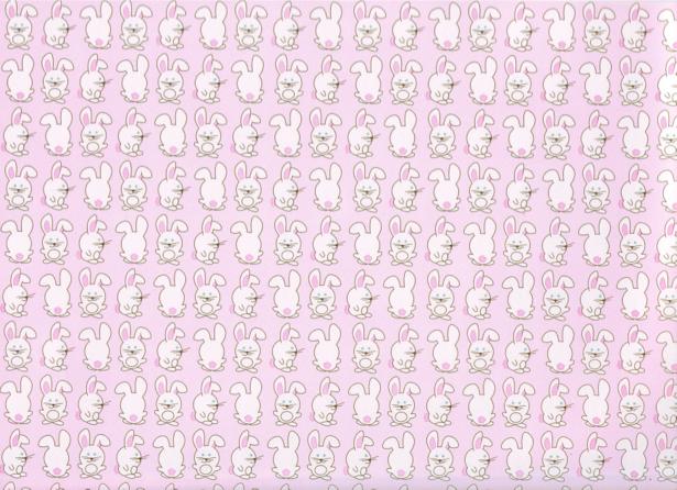 Детские фотообои розовые кролики (children-0000061)