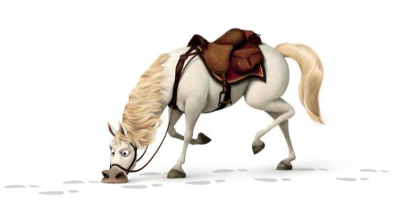 Детские фотообои Рапунцель конь (children-0000182)